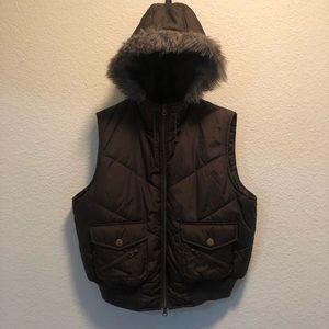 Like New Paris Blues Faux Fur Hooded Vest